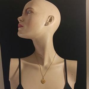 LADIES GOLD CHARM NECKLACE